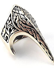 cheap -fang gothic biker retro 925 stelring silver turkish handmade luxury men's thumb ring (9)