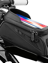 cheap -CoolChange Waterproof Cell Phone Bag Bike Frame Bag Top Tube Touch Screen Rain Waterproof Cycling Bike Bag TPU Oxford Cloth EVA Bicycle Bag Cycle Bag Null
