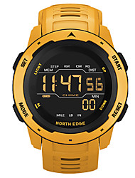 cheap -NORTH EDGE Men's Digital Watch Digital Sporty Stylish Casual Water Resistant / Waterproof Digital Black Red Yellow / One Year