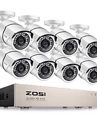 cheap -ZOSI H.265+ 8CH 5MP POE Security Camera System Kit 8 x 5MP Super HD IP Camera Outdoor Waterproof CCTV Video Surveillance NVR Set