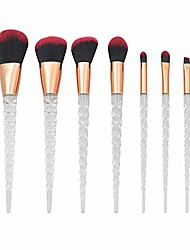cheap -7pcs glitter makeup brushes kit shiny crystal acrylic handle makeup brush with soft nylon hair beauty tool brush set (black)