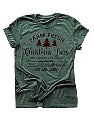 Недорогие -женщины рождество это самое прекрасное время года рубашка буйвола клетчатая елка пинта футболка (м, темно-зеленый)