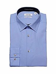 cheap -tone/tone stripe slim fit 100% cotton solid dress shirt - 33t046 (17 34-35, light blue)
