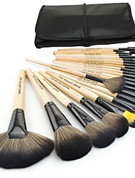 cheap -fashion make up for you pro 24pcs makeup brushes make up brush set cosmetic tool kit(brown)