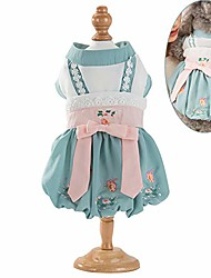 cheap -dog dresses elegant chinese style embroidered chiffon hanfu dress dog apparel cat clothes for cats rabbits small extral small dog teddy, chihuahua & #40;large& #41;