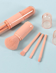cheap -Portable Retractable Multifunctional Makeup Brush Blush Brush Covered Four-In-One Loose Powder Eye Shadow Brush Set Mini Small Brush Set