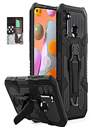 cheap -samsung galaxy a11 case, military grade protective phone case with belt clip and kickstand for samsung galaxy a11 (black)