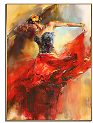 cheap -100% Hand painted Abstract Dancing Ballerina Girl Home Decor Best Gift Oil Painting on Canvas Scandinavian Wall Art Picture for Living Room Cuadros