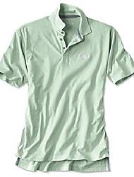 cheap -men's angler's polo, pale green, xx large