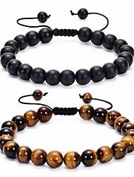 cheap -Natural stone lava rock bead bracelet men chakra bracelet women yoga stretch diffuser bracelet