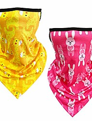 cheap -kids bandanas face mask with ear loops 2pcs, neck gaiter, back to school scarf