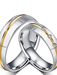 cheap -rowag 6mm men stainless steel couple wedding bands for him and her women cubic zirconia cz inlaid promise engagement rings,men size 11