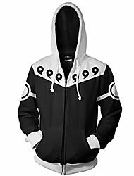cheap -men naruto kakashi long sleeve full-zip bomber jacket hooded varsity jacket (m/us s, six paths)
