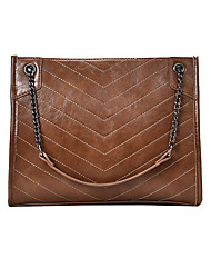 cheap -Women's Bags PU Leather Top Handle Bag Chain Handbags Daily Wine Black Khaki