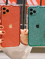 cheap -Case For Apple iPhone 11 Pro / iPhone 11 Pro Max Shockproof / Rhinestone Bumper Solid Colored Metal