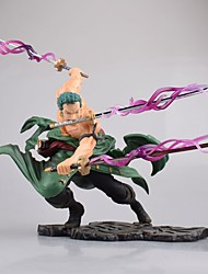 cheap -Anime Action Figures Inspired by One Piece Roronoa Zoro Engineering Plastics 18 cm CM Model Toys Doll Toy Men's Boys' Girls'