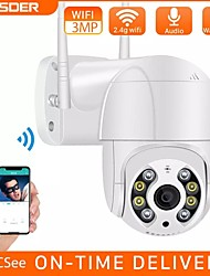cheap -BESDER 3MP PTZ WiFi Camera Motion Two Voice Alert Human Detection Outdoor IP Camera Audio IR Night Vision Video CCTV Surveillan