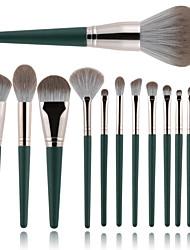 cheap -14 Pcs makeup brush set green cloud makeup brush set soft powder brush portable storage bag full set of beauty tool brush