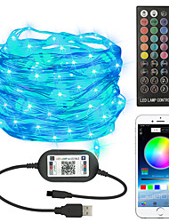cheap -LED String Lights 5m 10m 20m 50 LEDs EL 1 X 40 Key Controller 2pcs 1pc Color-changing Halloween Christmas Waterproof Outdoor Decorative USB Powered