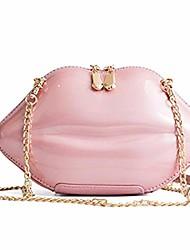 cheap -women's lips evening bag purses clutch vintage banquet handbag chain crossbody shoulder bag (powder pink)