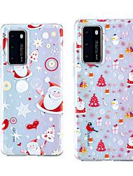 cheap -Case For Huawei Huawei P30 / Huawei P30 Pro / Huawei P30 Lite Shockproof / Transparent Back Cover Christmas TPU