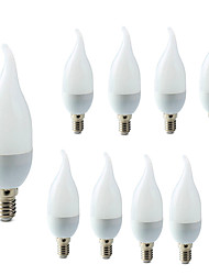 cheap -10pcs E14 LED Candle Bulb Led Light Chandelier Lamp Candle Bulbs 3W Lamps Decoration Light Warm Cool White Energy Saving