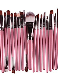 cheap -20 piece makeup brushes set eyeliner eyelash eyeshadow cosmetic tool foundation natural beauty palette predilection popular faced colorful rainbow hair highlights glitter teens travel kit, type-11