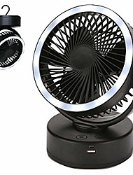 cheap -portable camping lantern with tent fan 7200mah battery operated camping fan with hanging hook usb mini desk fan with power bank phone charger for camping tent car emergency outages storm baby stroller
