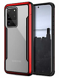 cheap -raptic shield series, samsung galaxy s11+ (s20 ultra) phone case - military grade drop tested, anodized aluminum, tpu, and polycarbonate protective case for samsung galaxy s11+ (s20 ultra), red