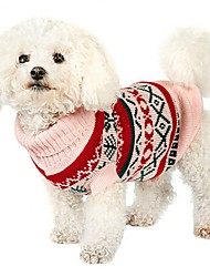 cheap -Dog Sweater Puppy Clothes Cartoon Fashion Casual / Daily Winter Dog Clothes Puppy Clothes Dog Outfits Yellow Light Green Pink Costume for Girl and Boy Dog Silk Fabric Cotton XS S M L XL