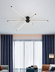 cheap -4/6 Heads Led Ceiling Lamp Nordic Minimalist Art Modern Fashion Living Room Lamp Post-modern Simple Straight Rod Bedroom