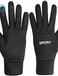 cheap -winter running gloves for men women unisex outdoor sports cycling driving windproof warm touchscreen gloves