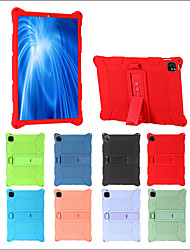 cheap -Case For Apple iPad 5 (2017) 9.7'' / iPad 6 (2018) 9.7'' / iPad 7 (2019) 10.2'' Shockproof / with Stand Back Cover Solid Colored Silicone