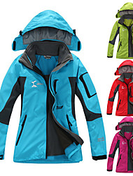 cheap -Women's Hiking Jacket Hiking 3-in-1 Jackets Ski Jacket Winter Outdoor Thermal Warm Waterproof Windproof Breathable 3-in-1 Jacket Top Fleece Full Length Visible Zipper Skiing Camping / Hiking Hunting