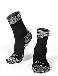 cheap -R-BAO Women's Men's Athletic Sports Socks Ski Socks Camping / Hiking Hunting Ski / Snowboard Rain Waterproof Cushion Breathability Cotton Ankle Socks Ski Wear / Winter / Patchwork / Stretchy