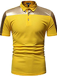 cheap -mens polo t-shirts golf tennis short sleeve tee tops jza483 yellow m
