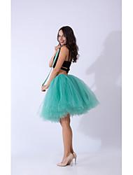 cheap -Ballet Dancer Petticoat Hoop Skirt Tutu Women's Movie Cosplay Vacation Classic Lolita Purple / Red / Dark Green Skirts Halloween Carnival Masquerade Organza Cotton