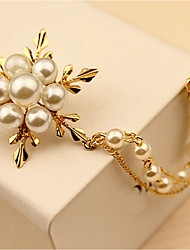 cheap -Pearl Brooches Stylish Brooch Jewelry Gold For Casual Festival
