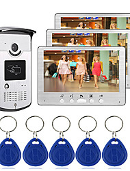 cheap -Wired 7 inch Hands-free 800*480 Pixel One to Three video doorphone