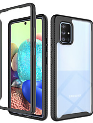 cheap -Phone Case For Samsung Galaxy Back Cover A71 5G A51 5G A21s Shockproof Translucent Armor Geometric Pattern Armor TPU PC
