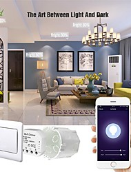 cheap -Wifi Dimmer Switch Module Controller 1 Way Dual Control Switch Panel Switch Independent Control Intelligent On-off Device