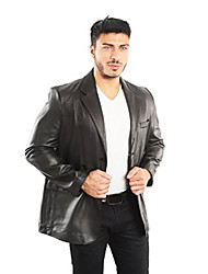 cheap -leather blazer jacket (imported) (5xl) black