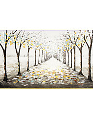 cheap -Oil Painting Hand Painted Horizontal Panoramic Abstract Landscape Modern Rolled Canvas (No Frame)