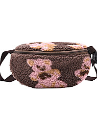 cheap -Women's Bags Fanny Pack Sling Shoulder Bag Chest Bag Zipper Daily Outdoor White Black Blushing Pink Brown