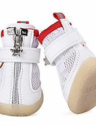 cheap -zipper small pet shoes summer dog sandals breathable mesh puppy boots for teddy chihuahua