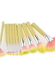 cheap -10pcs glitter fan makeup brushes set base foundation powder concealer blush eyeshadow cosmetics brush kit (fad708)