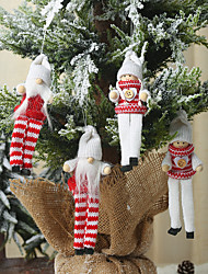 cheap -2pcs Christmas Ornaments Knitted Long-legged Puppet Pendant Creative Doll Old Man Doll Pendant