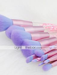 cheap -12 Pcs makeup brush set quicksand crystal sequins Unicorn mermaid crystal quicksand brush set