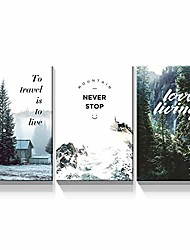 """cheap -- 3 piece canvas wall art - landscape with inspirational wall art for living room modern home decor stretched and framed ready to hang - 12""""x18""""x3 panels"""