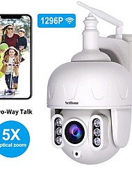 cheap -Sricam SH028 3.0MP Outdoor IP Camera Waterproof 5X Optical Zoom Wifi Camera 360 P2P 2-Way Audio Wireless Surveillance CCTV PTZ